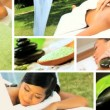 Montage of Multi Ethnic Females at Health Spa — Stock Video
