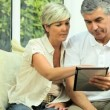 Middle Aged Couple Needing Financial Solutions - Zdjęcie stockowe
