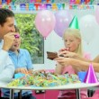 Young CaucasiChildren Enjoying Birthday Celebrations — Stock Video #23262602