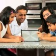 Asian Family Playing on Wireless Tablet — Stock Video #23262790