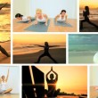 Montage of Yoga Fitness Lifestyle - Stock Photo