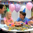 Young Caucasian Boy Blowing Out Birthday Candles — Stock Video #23262964