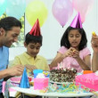Young Ethnic Girl Enjoying Birthday Celebrations — Stock Video #23263438