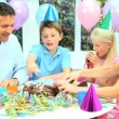 Young CaucasiChildren Enjoying Birthday Celebrations — Stock Video #23264236