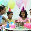 Young Asian Family Birthday Celebrations — Stock Video
