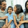 Young Ethnic Family Using Online Video Chat — Stock Video