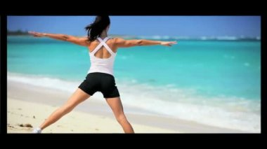 Montage of Living a Fit & Healthy Lifestyle — Stock video