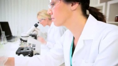 Research Assistants in Medical Laboratory — Stock Video