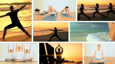 Montage of Yoga Fitness Lifestyle — Stock Video