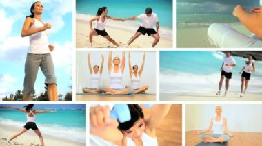 Montage of Luxury Health & Fitness Lifestyles — Stock Video