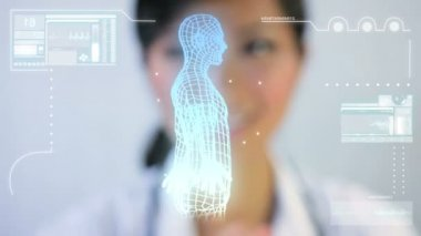 DNA Medical Touchscreen Technology — Stock Video