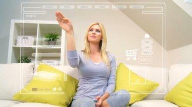 Future Home Shopping Touchscreen Technology — Stock Video