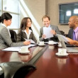 Modern Multi Ethnic Executive Business Team — Stock Video
