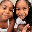 African American Children Using Online Web Chat — Stock Video