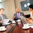 Ambitious Multi Ethnic Business Team in Boardroom — Stock Video #23334102