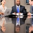 Multi Ethnic Business Group in Boardroom Meeting — Stock Video #23334296