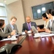 Multi Ethnic Business Team Meeting in Boardroom — Stock Video #23334314