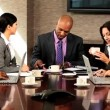 Boardroom Meeting of Multi Ethnic Business Team — Stock Video #23334426