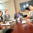 Boardroom Meeting of Multi Ethnic Business Team — Stock Video #23334524