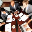 Stock Video: Business Executive Team Building in Boardroom Meeting