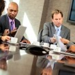 Multi Ethnic Business Team Meeting in Boardroom — Stock Video #23334872