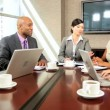 Stock Video: Multi Ethnic Business Team Meeting in Boardroom