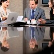 Ambitious Multi Ethnic Business Team in Boardroom — Stock Video #23335088