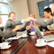 Boardroom Meeting of Multi Ethnic Business Team — Stock Video #23335130