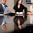 Ambitious Multi Ethnic Business Team in Boardroom — Stock Video #23335194