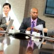 Boardroom Meeting of Multi Ethnic Business Team — Stock Video #23335528