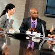 Multi Ethnic Business Team Meeting in Boardroom — Stock Video #23335588