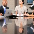 Multi Ethnic Business Team in Conference Meeting — Stock Video #23335596