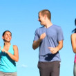 Youthful Friends Fitness Program — Stock Video