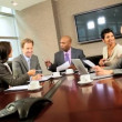 Stock Video: Multi Ethnic Business Team Boardroom Meeting