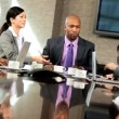 Ambitious Multi Ethnic Business Team in Boardroom — Stock Video