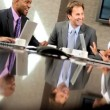 Stock Video: Boardroom Meeting of Multi Ethnic Business Team