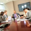 Ambitious Multi Ethnic Business Team Meeting in Boardroom — Stock Video #23336622