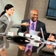 Ambitious Multi Ethnic Business Team in Boardroom — Stock Video #23336738