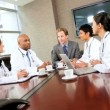 Multi Ethnic Medical Executive Boardroom Meeting — Stock Video #23336810