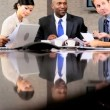 Multi Ethnic Business Team in Conference Meeting — Stock Video #23336956