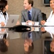 Medical Executive Boardroom Meeting with Financial Advisors — Stock Video #23337096