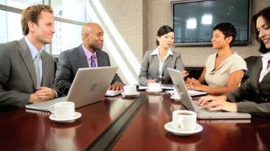 Multi Ethnic Business Team Meeting in Boardroom — Stock Video