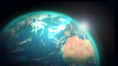 CG Graphic of Revolving Earth and Global Communication — Stock Video