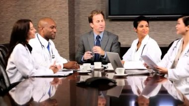 Meeting of Medical Executives and Financial Advisors — Stock Video