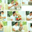 Montage of Young Caucasian Couple Enjoying Life — Stock Video