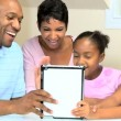 Ethnic Family Using Online Web Chat — Stock Video