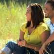 Young African American Couple Enjoying the Park — Stock Video