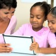 Young African American Girls with Wireless Tablet — Stock Video