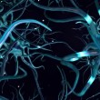 CG Digital Graphic of Network of Neuron Cells - 图库照片