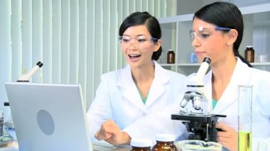 Research Students Working in Medical Laboratory — Stock Video